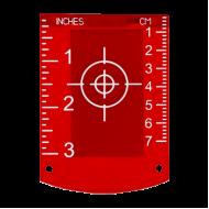 Lāzera mērķa plāksne sarkaniem lāzeriem TR-R
