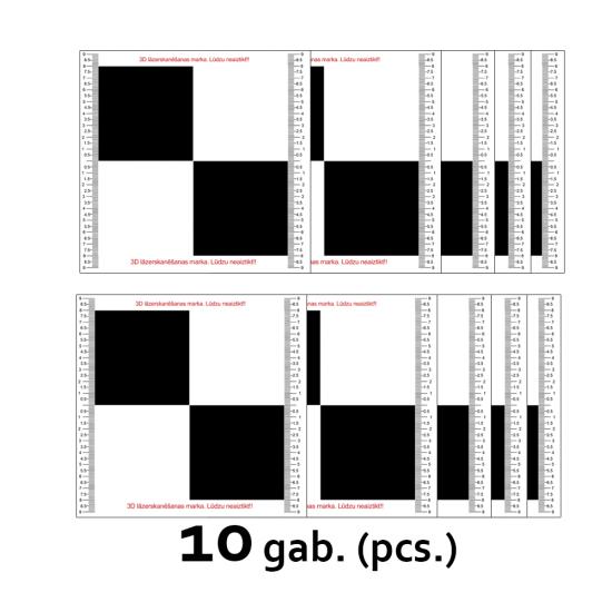 Augstas kvalitātes Skeneru markas 10 gab. (19cmx19cm)